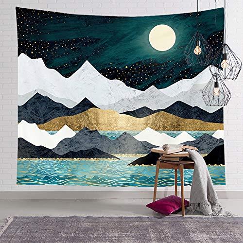 Asudaro Tapisserie Wandbehang Hintergrund Wandteppiche Retro Wandkunst Strandtuch Wrap Picknick Decke Wohnaccessoires für Wohnzimmer Schlafzimmer Stil 4 M: 150 x 130 cm
