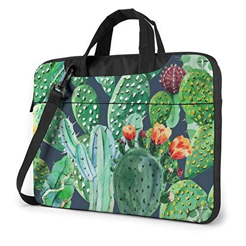 15.6 inch Laptop Shoulder Briefcase Messenger Cactus Tablet Bussiness Carrying Handbag Case Sleeve
