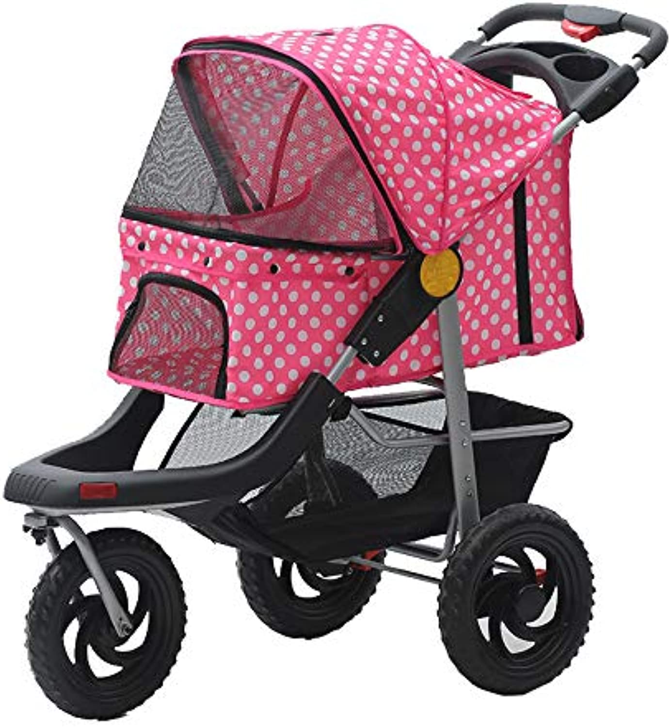 HU Pet stroller Oxford cloth breathable spacious tricycle practical beautiful foldable (color   E)