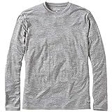 Howies - Classic Merino Base Layer - LS Tee fit - 180g Merino Wool (Large, Light Grey)