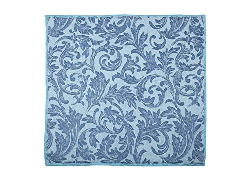 : PLD Microfibre Dish Draining Board Mat, Kitchen Super Absorbent Sink Mat for Dishes, Plates, Glass, Mug, Large Size 38x50cm (15' X19.6'), Blue, Embossed Floral Print, One Piece/Pack.