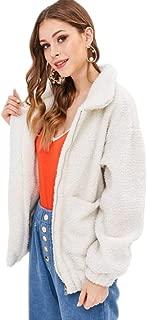 XFentech Women's Coat - Lady Popular Winter Long Sleeve Plush Zipper Thick Jacket Cardigan Pullover