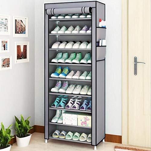 Gabinete de zapatos a prueba de polvo Rack de zapatos -30 pares de bastidor de almacenamiento para zapatos de tenis, zapatillas de deporte, accesorios de tacones-ahorro de espacio para dormitorio, ent