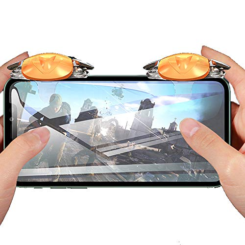 mobile video games PUBG Mobile Trigger, Auto High Frequency Click Mobile Game Controllers for PUBG/COD Mobile/Fortnite/Rules of Survival Gaming Grip and Gaming Joysticks for iPhone Android Phones