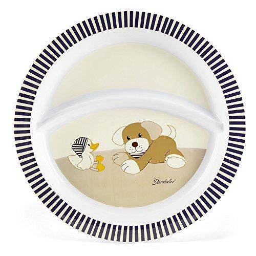 Sterntaler Assiette Bébé, le chien Hanno, Âge: Pour les bébés à partir de 6 mois, Beige