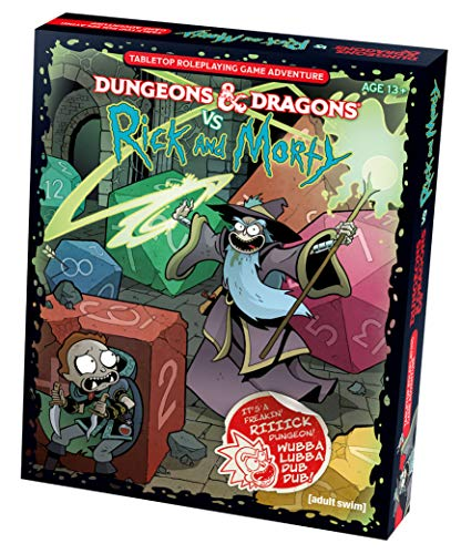 Wizards Of The Coast Dungeons & Dragons vs Rick and Morty (D&D Tabletop Roleplaying Game Adventure Boxed Set)