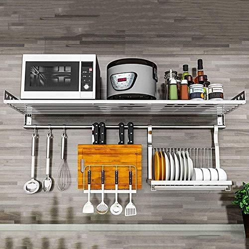 tgbnh Estante de Cocina Estante de la Cocina, Acero Inoxidable 304 del Horno microondas del Estante - montado en la Pared Escurridor - Condimento Shelf