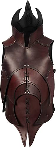 Andracor – Handgearbeitete d nische Lederrüstung mit Klingenbrechern für alle furchteinfl nden Kreaturen – individuell einsetzbar für LARP; Fantasy, Mittelalter & Cosplay – Braun
