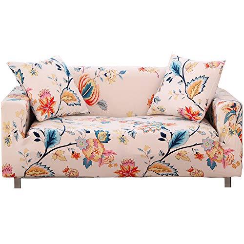Melodieux Elastischer Sesselbezug Stretch Sofa Überwürfe, Sofaüberzug, Sofabezug, Sofa Abdeckung Hussen für Couch mit 2 Stücke Kissenbezug
