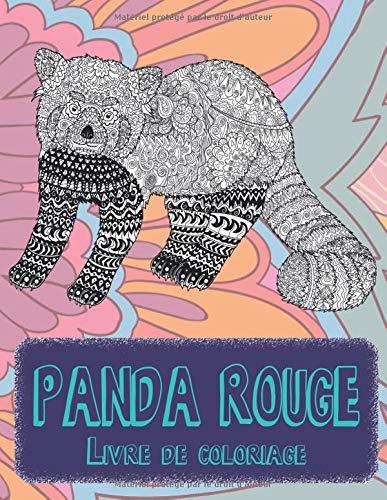 Panda rouge - Livre de coloriage