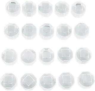 Lovoski 20x Small Acrylic Ring Box Romantic Soft Wedding Engagement Ring Case