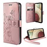 ivencase Cover Compatibile con Samsung Galaxy A12 / M12, Book Cover Custodia Flip Caso in PU...