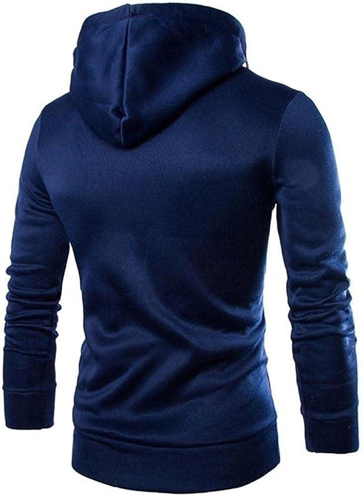 Mens Hoodies Tops Men's Long Sleeve Patchwork Hoodie Hooded Sweatshirt Top Tee Outwear Fashion Sweatshirt And Hoodies Blouses