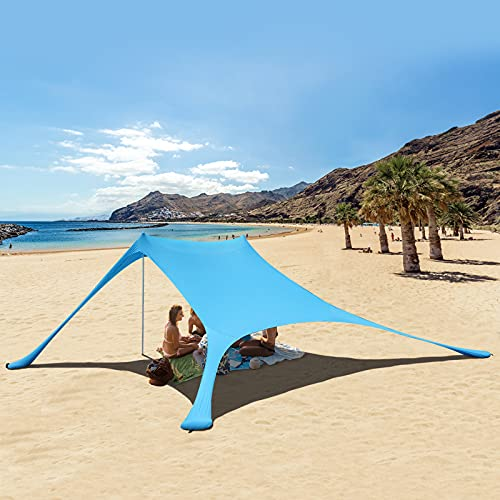 RESVIN UPF50+ Portable Pop Up Beach Tent 10 ft x 10 ft Only $49.99 (Retail $100)