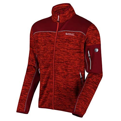 Regatta Mens Collumbus VI Full Zip Marl Knit Fleece Jacket