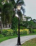 Luz, 2.75M LED Villa de Poste Alto Paisaje Jardín Comunidad Continental Farola Tradición Lámpara de pie Impermeable al Aire Libre Lámpara de Columna Linterna Luces de Villa de césped