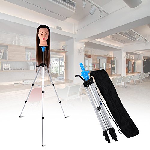 Mannequin Tripod, Portable Adjustable Wig Head Tripod Stand Holder for Hairdressing Makeup Beauty Salon Hair Cosmetology Mannequin Training Doll Model Head Stand with Carry Bag (#1)