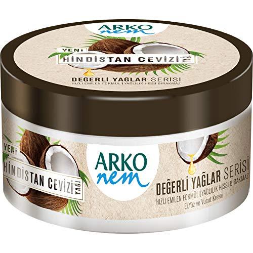 Arko Nem Creme, Kokosnuss Creme für Körper - Gesicht und Hände, 250 ml Dose