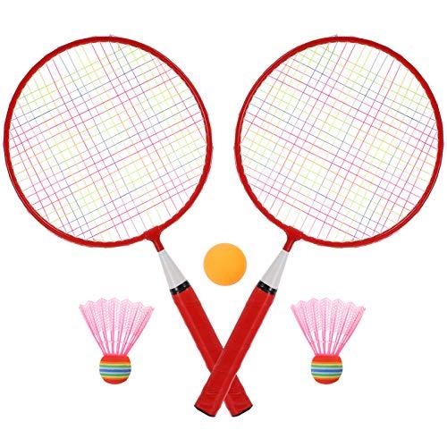 CLISPEED Juego de Raqueta de Tenis para Niños Raqueta de Tenis Pelotas de Pingpong Juego de Raqueta de Tenis Junior Juguetes de Playa para Niños Juego de Césped de Playa 3-10 Años