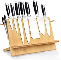 Leader Accessories Bamboo Magnetic Knife Block Double Side Strongly Magnetic Knife Stand