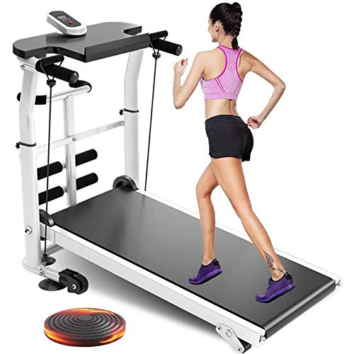 Multifunción Mecánico Cinta de Correr Equipo de Fitness con 150kg MAX Cargar Pequeña Máquina de Adelgazamiento Plegable Pequeña Máquina de Caminata silenciosa Categor de Cinta BJY969