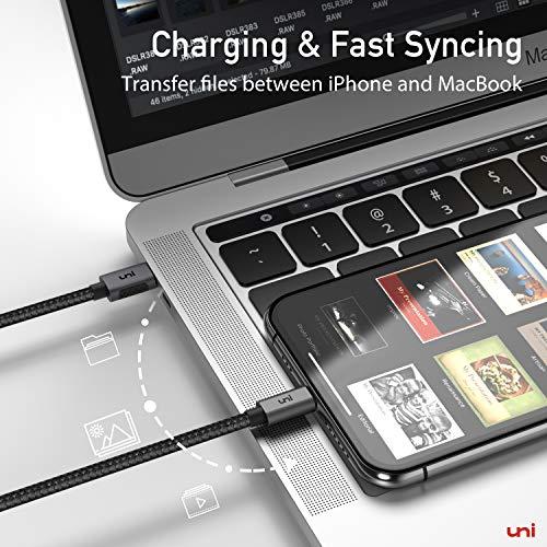 USB C auf Ligtning Kabel, uni 1,8 m [MFi-Zertifiziert] geflochtenes Nylon USB C Lightning Kabel für iPhone 12, 12 Mini, 12 Pro, 12 Pro Max, AirPods und mehr