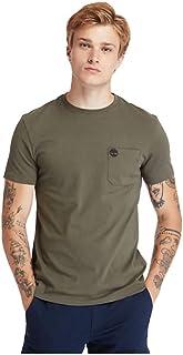 Timberland Men's Dunstan River Pocket T-Shirt, Color: Green, Size: M