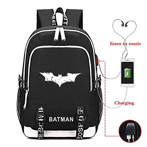 BHCW Schulrucksack Backpack Teenager Rucksack Grundschule Backpack Mädchen Schulranzen Ergonomischem Design Business Rucksack Leichtgewicht Wasserdicht Anti Diebstahl Batman