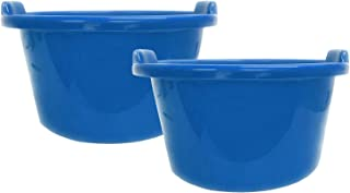 Kuber Industries 2 Pieces Unbreakable Multipurpose Bathroom Deep Tub 40 Ltr (Blue)-CTKTC25447