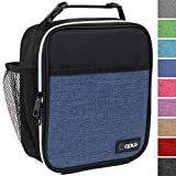 OPUX Premium Insulated Lunch Box | Soft Leakproof School Lunch Bag for Kids, Boys, Girls | Durable Reusable Work Lunch Pail Cooler for Adult Men, Women, Office Fits 6 Cans (Heather Navy)