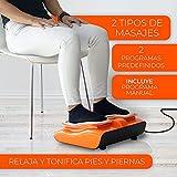 BONPLUS   Vibralegs Masajeador eléctrico para pies   Con vibración   Masaje Shiatsu   Mejora la circulación   Sensación de bienestar   Mando a Distancia   Dos años de Garantía
