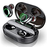 Bluetooth Kopfhörer, In Ear Kopfhörer Kabellos IPX8 Wasserdicht 150H Spielzeit mit 3500mAh Ladebox, Sport Wireless Kopfhörer Bluetooth 5.0 Earbuds mit Mikrofon, Deep Bass, LED-Anzeige, Touch Control