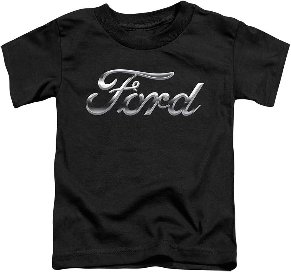 Ford Chrome Ford Logo Unisex Toddler T Shirt for Boys and Girls