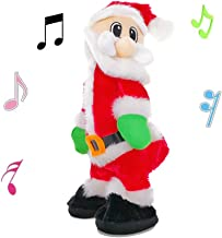 ALIMITOPIA Twerking Santa Electric Toy,Christmas Musical Doll Dancing and Singing Xmas Plush Wiggle Hip Santa Claus Electric Toy Funny Gift(English Song)