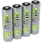 ANSMANN Akku AA Mignon 1300mAh 1,2V NiMH - wiederaufladbare Batterien AA Akkus maxE (geringe Selbstentladung & vorgeladen) ideal für Solarlampe (4 Stück)