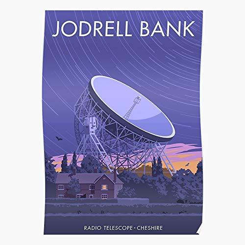 Generic Jodrell Bank Travel Retro Telescope England Cheshire Nostalgia Observatory Home Decor Wandkunst drucken Poster !