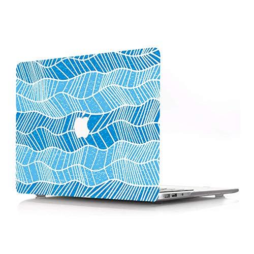 AJYX - Carcasa rígida de plástico solo compatible con MacBook Pro 13' (modelo: A1278 con CD-ROM) Release 2012/2011/2010/2009/2008, diseño de ondas azules