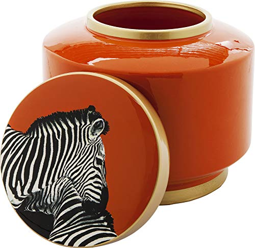 Kare Design Pot Motif zèbre Orange 19 cm
