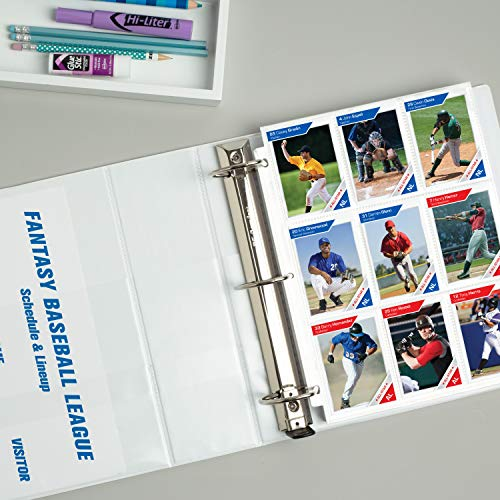 AVERY Heavy-Duty View 3 Ring Binder, 3' One Touch Slant Rings, White, Perfect Trading Card Binder (79793)