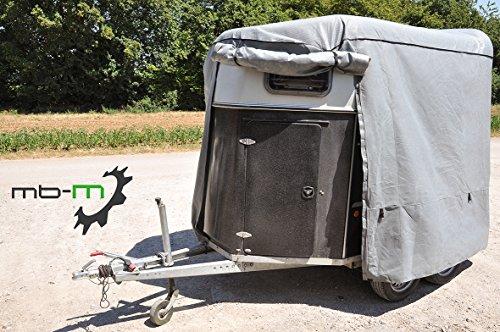 mb-m Plane für Pferdeanhänger Anhängerabdeckplane Schutzhülle Pferdeanhänger Cover