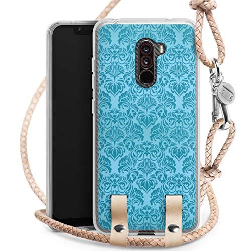 DeinDesign Carry Case kompatibel mit Xiaomi Pocophone F1 Hülle mit Kordel aus Leder Handykette zum...