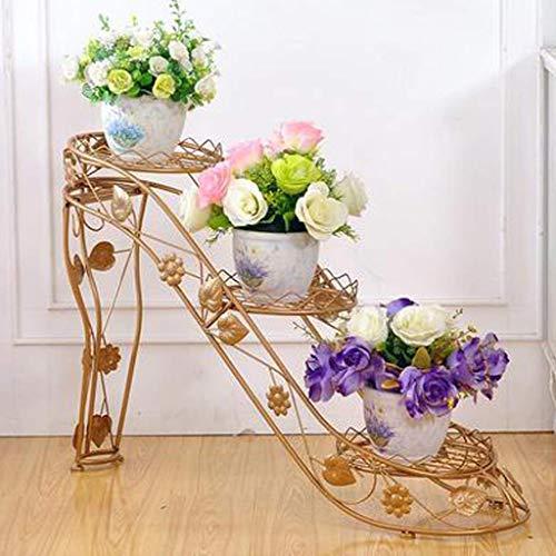 CCLLA Soporte de Puerta de Metal para Flores, macetero para Bicicletas, Planta Decorativa de Hierro Forjado en jardín, Patio, Patio o Soporte de Flores para Interiores, Tacones Altos creativos