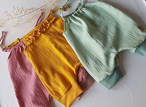 Baby Sommer Jumper aus Musselin/Overall/Romper/Jumpsuit/Einteiler/Latzhose/verschiedene Farben und Größen