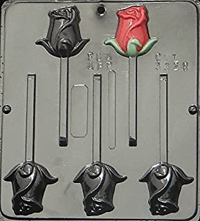 Candy Molds N More Rose Lollipop Chocolate Candy Mold 3328