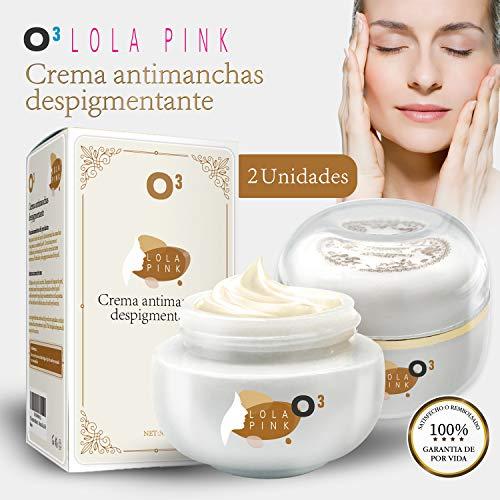 O³ Crema Antimanchas Facial Lola Pink – 2 Unidades x 30 g – Cosmética Anti-Manchas | Despigmentante Facial Para La Cara – Crema Blanqueadora Quita Manchas Facial – Imperfecciones – Marcas De La Piel