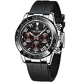 Pagani Design Men Quartz Watch Luxury Business Classic Men Watches Cinturino in gomma con cristallo di zaffiro Orologio da polso analogico al quarzo con cronografo luminoso impermeabile