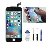 iPhone6s 4.7インチ交換修理 フロントパネル(バック) デジタイザーLCD スクリーン 3Dタッチスクリーン液晶パネル 修理工具(パーツ)付き 割れフロントガラスデジタイザ カスタムパーツ(黒い/ブラック)
