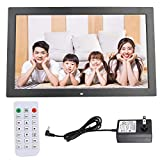 Smart Digital Picture Frame 18 Inch, 16:9 1366 * 768 Resolution, with Electronic Clock, Electronic Calendar Function, Supports AV/MPG/MP4/MP3/JPG/JPEG(Black)