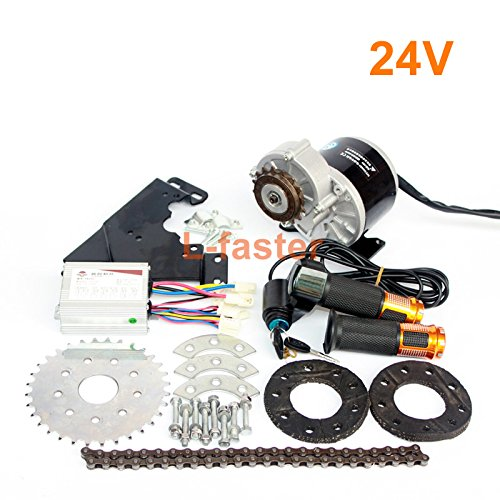 350W New Arrival Electric Geared Bicycle Motor Kit Electric Derailleur Engine Set Variable Multiple Speed Bicycle Electric Kit (24V Twist Kit)