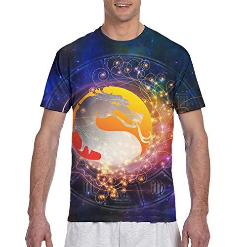 Preisvergleich Produktbild Actuallyhome Mortal Kombat-X Herren Classic Full Size Doppelseitiger Druck Kurzarm T-Shirt T-Shirt mit Rundhalsausschnitt